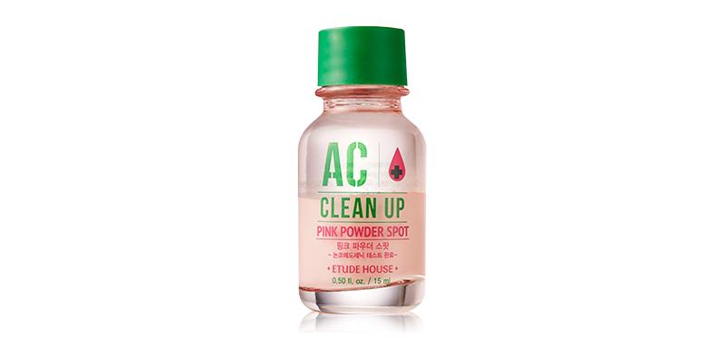 Etude House AC+ Clean Up Pink Powder Spot 15ml หน้าใสไร้สิว ถูกใจโอปป้า ด้วยแป้งน้ำสำหรับแต้มสิว ช่วยให้สิวแห้งไว้ ลดปัญหาการอักเสบแดงของสิวได้อย่างรวดเร็ว มีสารบำรุงเข้มข้นพร้อมคงความชุ่มชื้นให้กับผิว