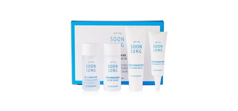 [Free Gift] Etude House Soon Jung Trial Kit Set 4 Items