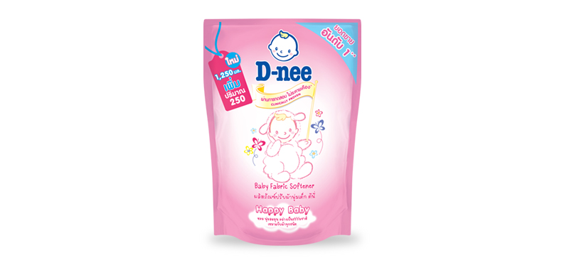 D-nee Baby Fabric Softener 1250ml #Pouch Pink