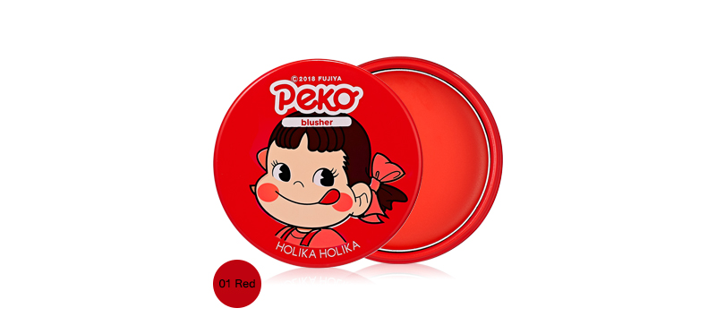 Holika Holika x Peko Chan Melty Jelly Blush 6g #01 Mealting Cherry