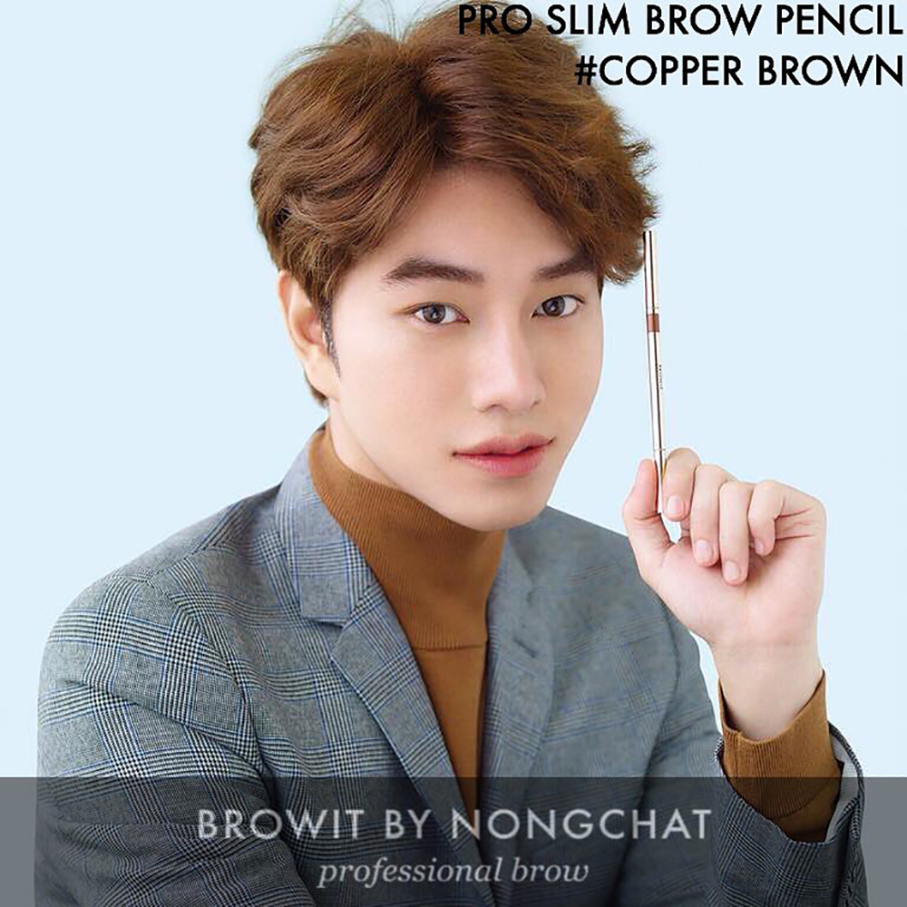 Browit Pro Slim Brow Pencil 0.06g (Free! Brow Sticker 2P Airs Browit #Ash Brown)_1