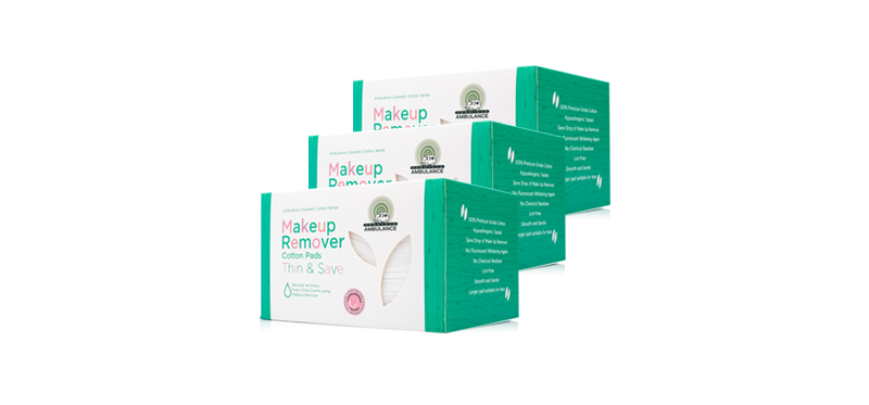 [แพ็คคู่] Ambulance Cosmetic Pads Thin & Save [120sheets x 2pcs] [Free! Ambulance Cosmetic Pads Thin & Save 120sheets]