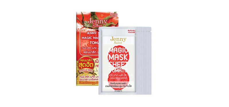 Jenny Sweet Magic Mask Sheet Tomato (13g x 6pcs) ( สินค้าหมดอายุ : 2020.10 )