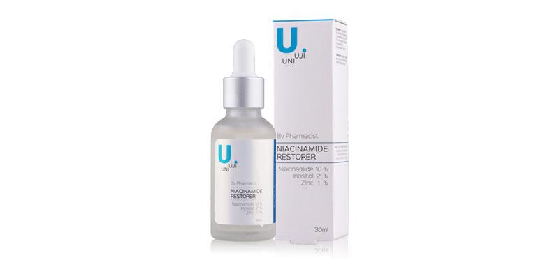 Uniuji Niacinamide Restorer (Niacinamide 10% + Inositol 2% + Zinc 1%) 30ml ( สินค้าหมดอายุ : 2021.02 )