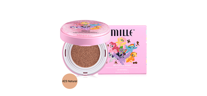 Mille My Little Pony Wonderful Matte Cover Cushion SPF30/PA++ 12g #23 Natural