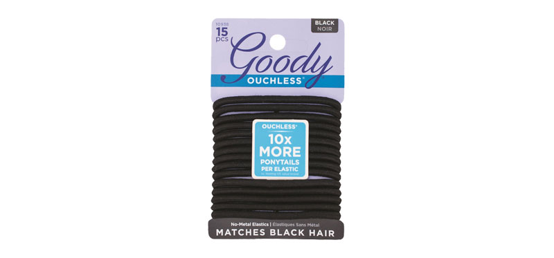 Goody Womens Ouchless Braided Elastics, Black (15pcs)
