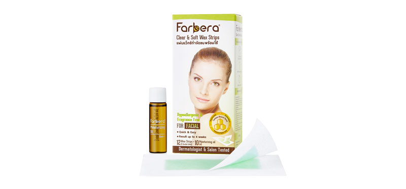 Farbera Clear & Soft Wax Strips (For Facial) 12sheet