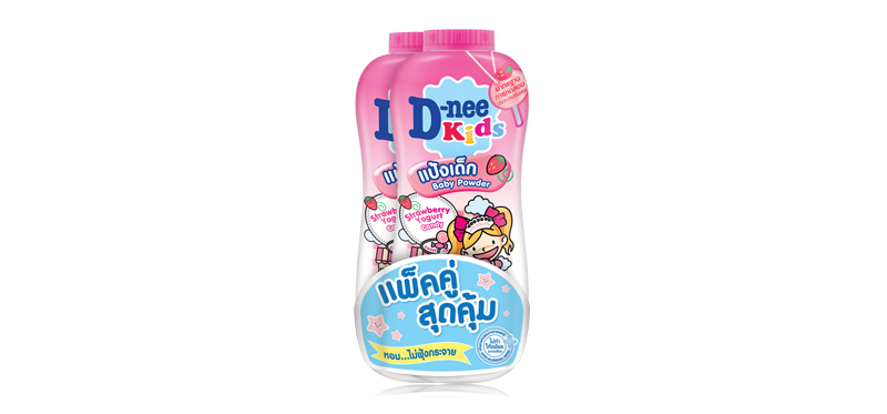 D-nee Kids Strawberry Yogurt Candy Powder (400g x 2pcs)