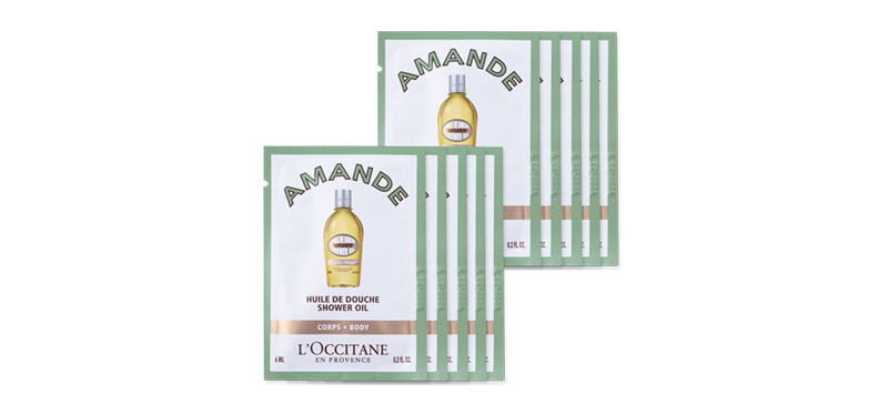 L'Occitane Shower Oil Cleansing And Softening (6mlx10pcs)