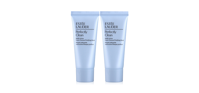 [แพ็คคู่] Estee Lauder Perfectly Clean Multi-Action Foam Cleanser/Purifying Mask [30ml x 2pcs]