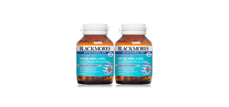 แพ็คคู่ Blackmores Odourless Fish Oil Mini Pack (60 caps x 2pcs)