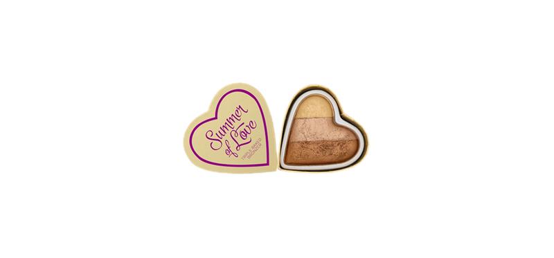 Makeup Revolution I Heart Revolution Blushing Hearts 10g #Hot Summer of love