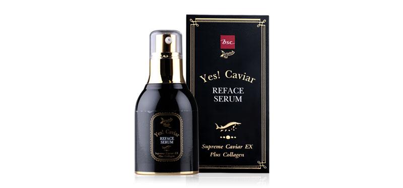 BeWitch Black Magic By Bsc Yes Caviar Reface Serum 30g ผิวหน้าเด้งดูเด็ก ด้วยเซรั่มบำรุงผิว จากบีวิช อุดมด้วยคาเวียร์เข้มข้นขึ้น 2 เท่า ช่วยลดเลือนริ้วรอย เติมเต็มร่องลึก ให้ดูตื้นขึ้น มอบผิวเนียนกระชับ มีสุขภาพดี