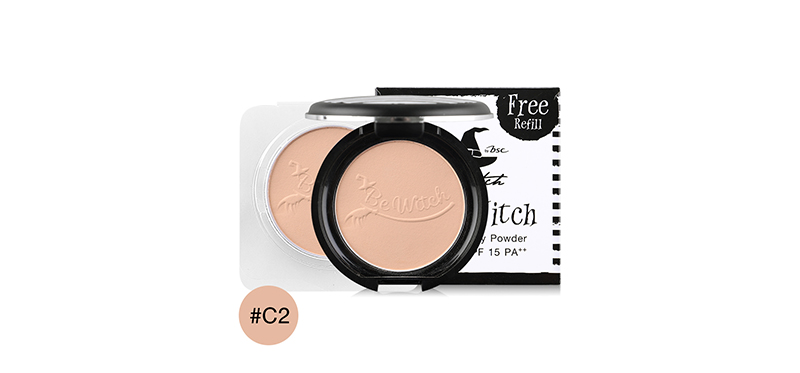 BeWitch Black Magic By Bsc Holy Witch Smooth Silky Powder SPF15/PA++ 8g #C2 (Free! Refill)
