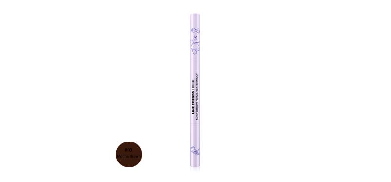 Mille line Friends l 6D Eyebrow Pencil Waterproof 2g #03 Mocha Brown