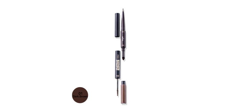 Mee Draw 2 Dip 3IN1 Eyebrow Kits #01 Dark Brown
