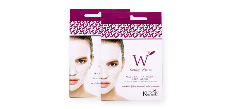 [แพ็คคู่] Kuron White Crystal Mask [2 Sheets]