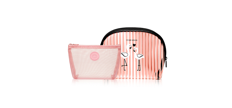 [Free Gift] Etude House Flamingo Bag in Bag Pouch