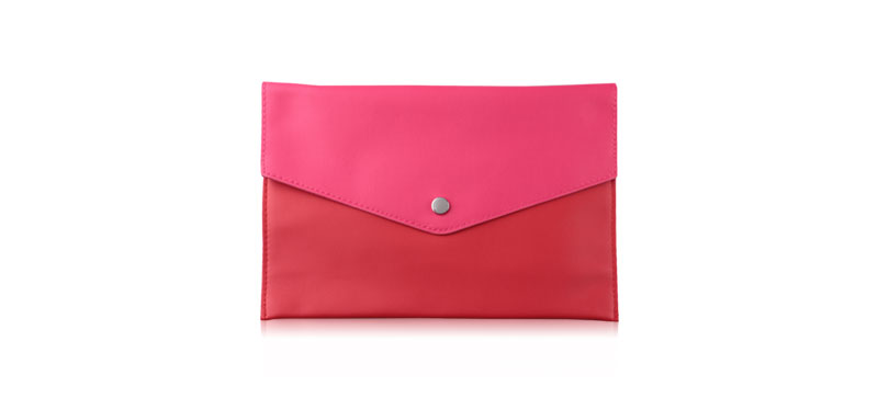 Lancome Clutch Purse Red Body & Pink Lid