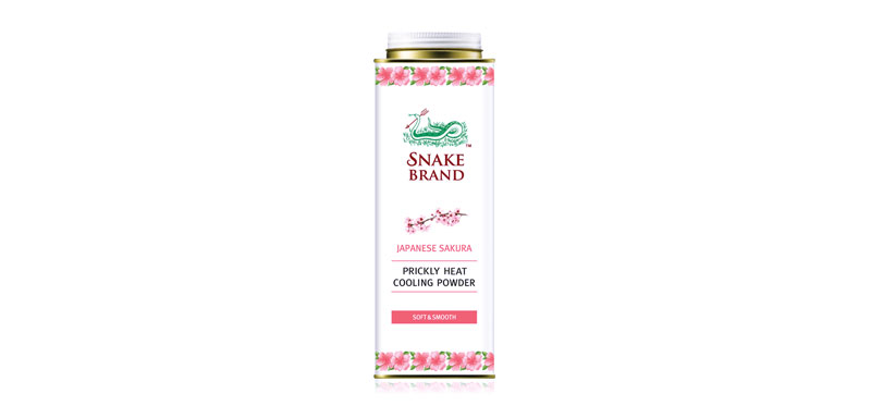 Snake Brand Japanese Sakura Prickly Heat Cooling Powder 280g #Soft&Smooth
