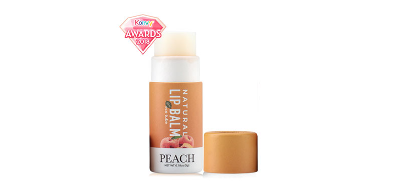 IRA eco tube Natural Lip Balm Peach 7g