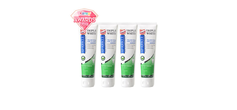Sparkle Triple White Toothpaste Set (100g x 4)