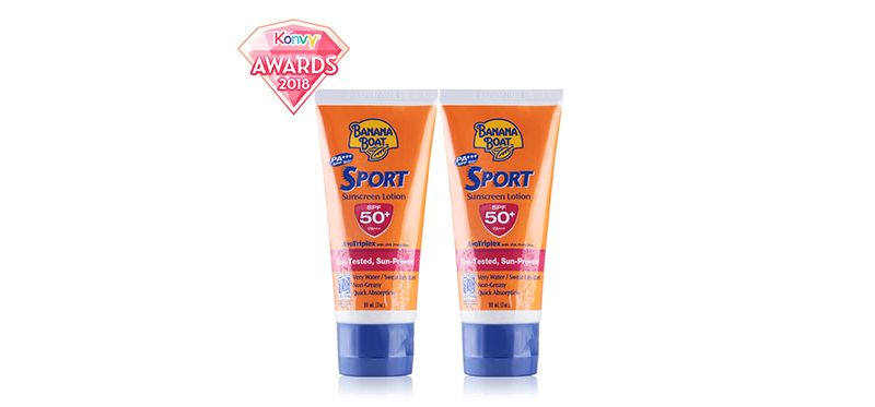 แพ็คคู่ Banana Boat Sport Sunscreen Lotion SPF50+PA+++ (90mlx2pcs)
