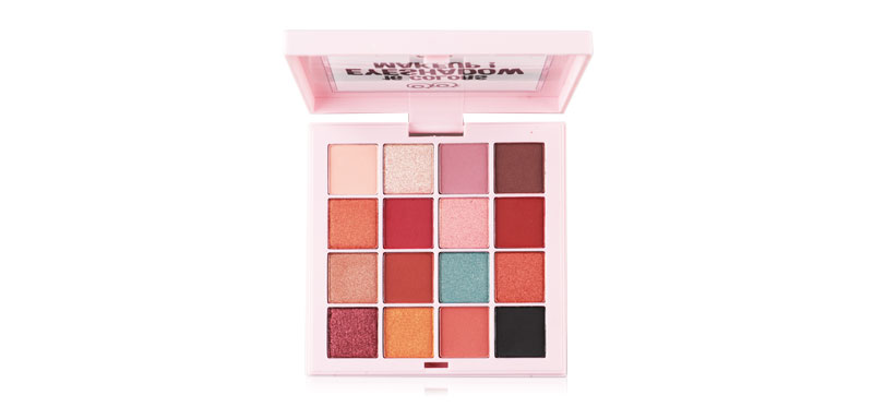 KQTQK 16 Colors Eyeshadow Palette 13g #2