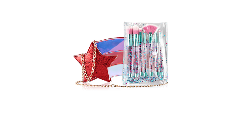 Ary Professional Star Power Brush Set 7 Items #Red