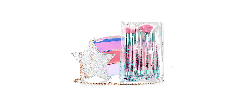 Ary Professional Star Power Brush Set 7 Items #Silver
