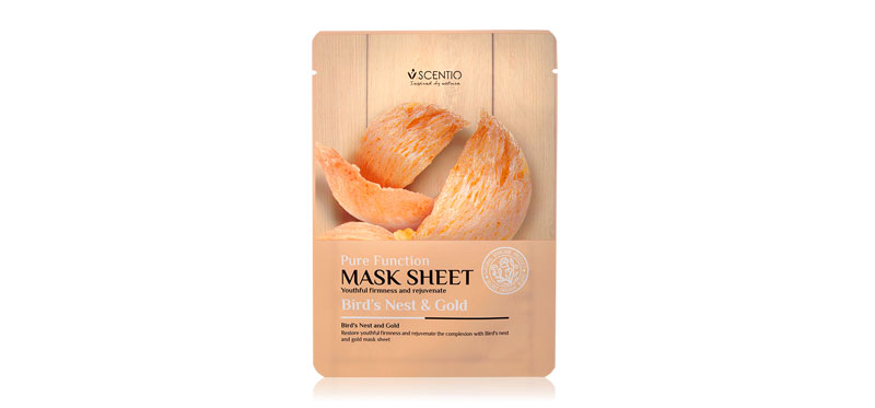 Beauty Buffet Scentio Birds Nest & Gold Mask 1sheet