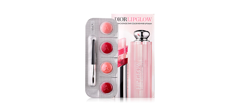 Dior Lip Glow New Glow Squad Of Colors (4x0.30g) #001 Pink, 007 Raspberry, 010 Holo Pink, 102 Matte Raspberry