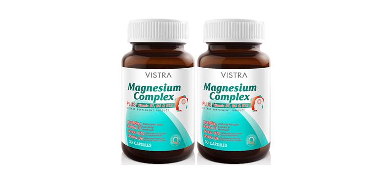 [แพ็คคู่] Vistra Magnesium Complex 30 Capsules
