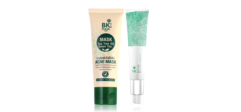 BK Set 2 Items (Mask Acne Mask Tea Tree Oil 35g + Acne Expert Bright 30g)