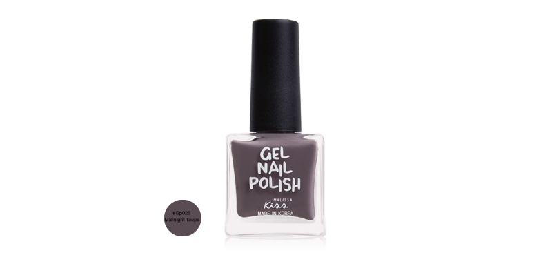 Malissa Kiss Gel Nail Polish 10ml #GP026 Midnight Taupe