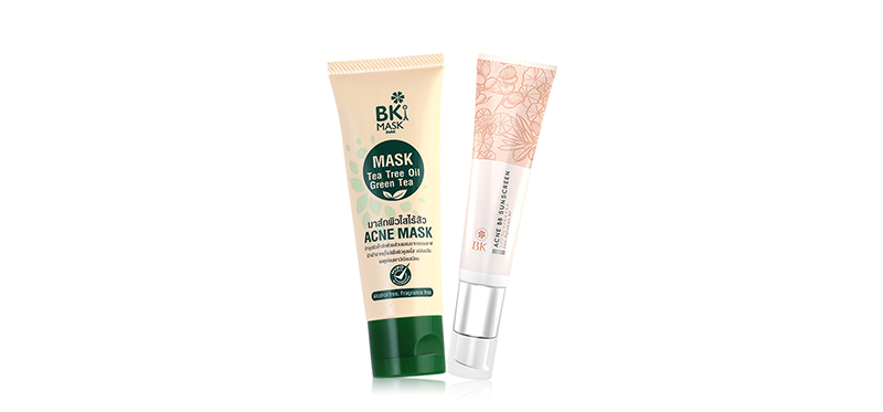 BK Set 2 Items (Mask Acne Mask Tea Tree Oil 35g + Acne BB Sunscreen SPF50+/PA++++ 30g)