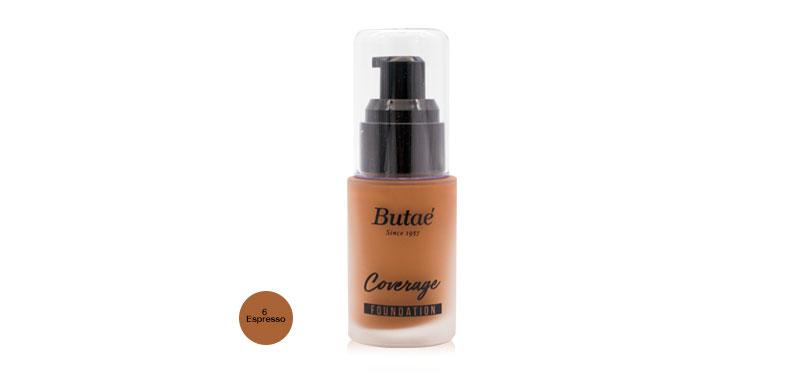 Butae Coverage Foundation 30ml #6 Espresso