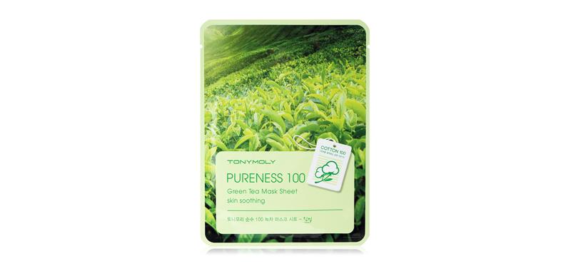 Tonymoly Pureness 100 Green Tea Mask Sheet Skin Soothing 21ml