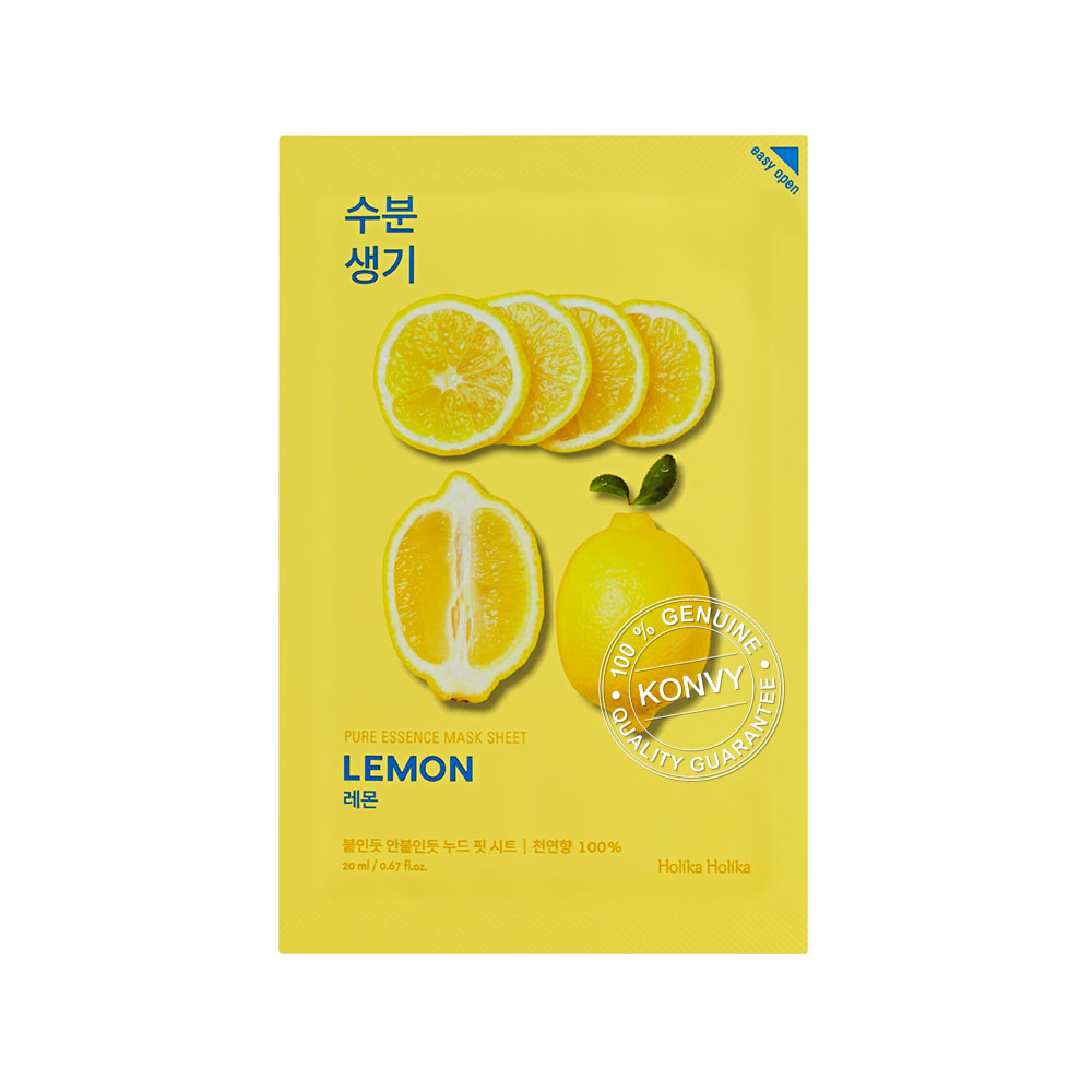 Holika Holika Pure Essence Mask Sheet 20ml #Lemon