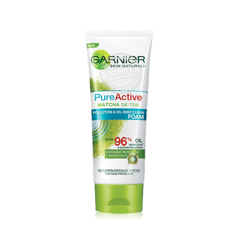 Garnier Pure Active Matcha De-Tox Foam 100ml