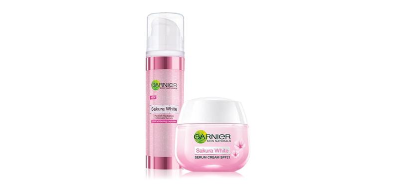 Garnier Sakura White Set 2 Items (Day Cream 50ml + Serum 30ml)
