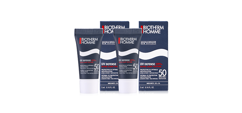 แพ็คคู่ Biotherm Homme UV Defense City+ Ultra Light Texture 50 SPF/PA+++ (5mlx2pcs)