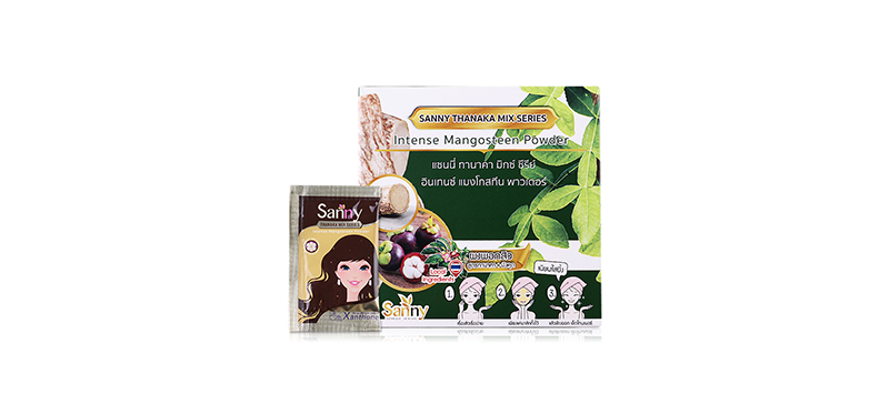 Sanny Botanique Skincare Thanaka Mix Series Intense Mangosteen Powder (2g x 36 pcs)
