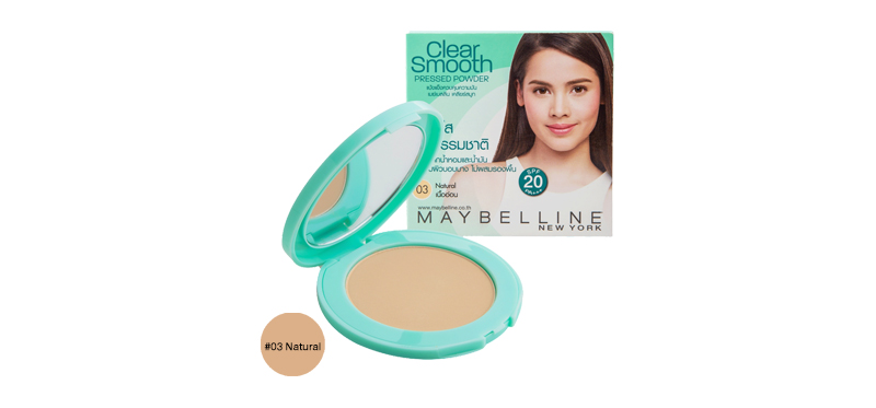 Maybelline New York Clear Smooth Pressed Powder SPF20/PA+++ 9g #03 Natural