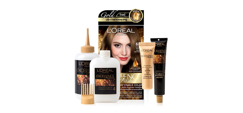 L'Oréal Paris Excellence Fashion Sparkling Visible Color With Hi-Shine Complex #6.3 Golden Brown