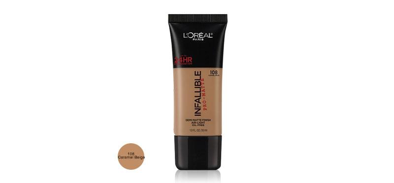 L'Oréal Paris Infallible Pro-Matte Foundation 30ml #108 Caramel Beige