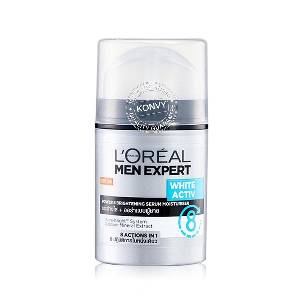 L'Oréal Paris Men Expert White Active Power 8 Brightening Serum Moisturiser SPF26 50ml