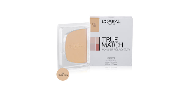 L'Oréal Paris True Match Even Perfecting Powder Foundation SPF32/PA+++ #N2 Nude Ivory (Refill)