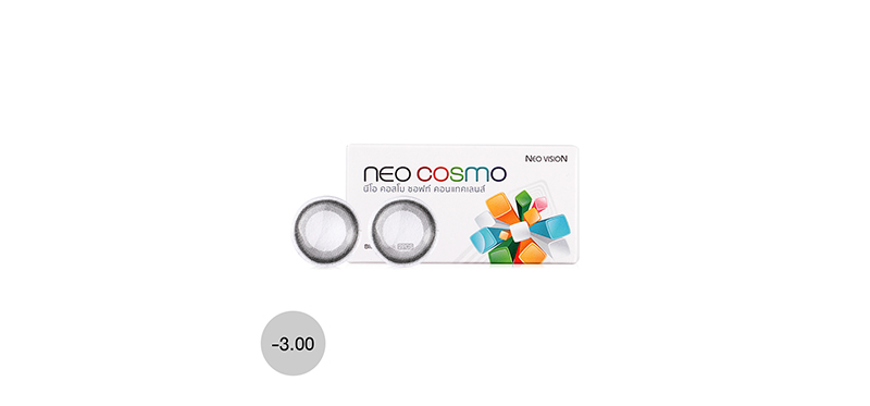 Neo Cosmo Contact Lens 1pair #Monet Chagall Black -3.00