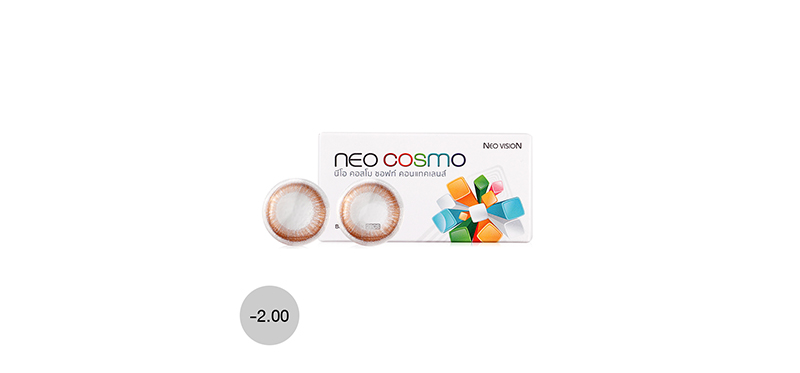 Neo Cosmo Contact Lens 1pair #Monet Brown -2.00
